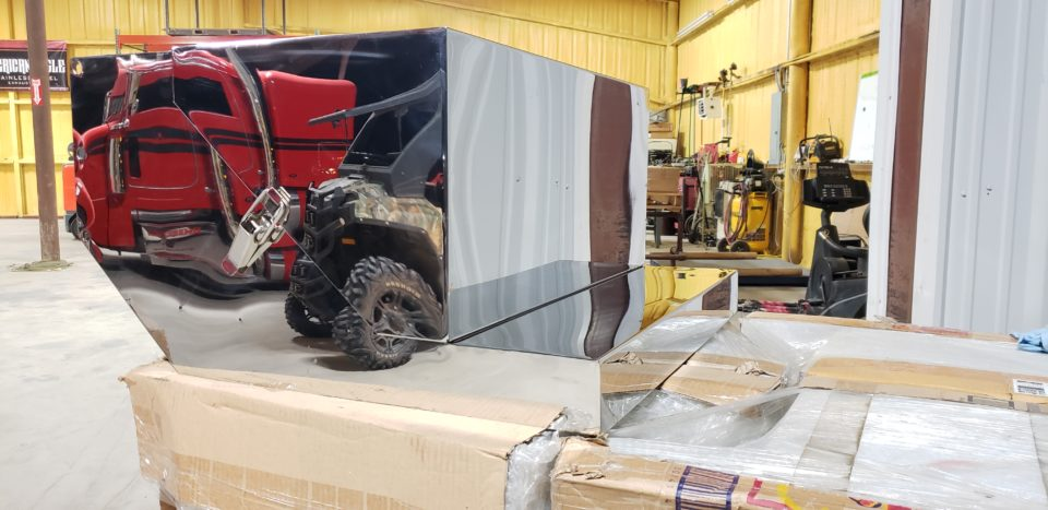 American Eagle Exhaust Stephenville Texas - Stainless Steel Truck Step Box & Batter Boxes