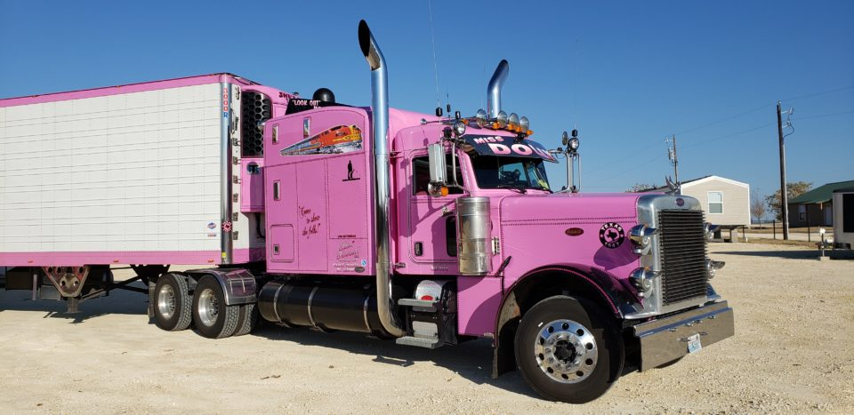 American Eagle Exhaust Stephenville Texas - Stainless Steel Truck Exhaust Tall Wide Aussie Miss Dolly Truck 2
