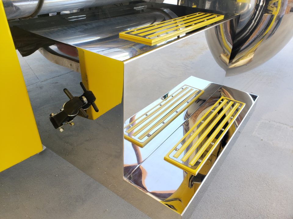 American Eagle Exhaust Stephenville Texas - Stainless Steel Step Boxes & Battery Boxes Yellow Step Plates