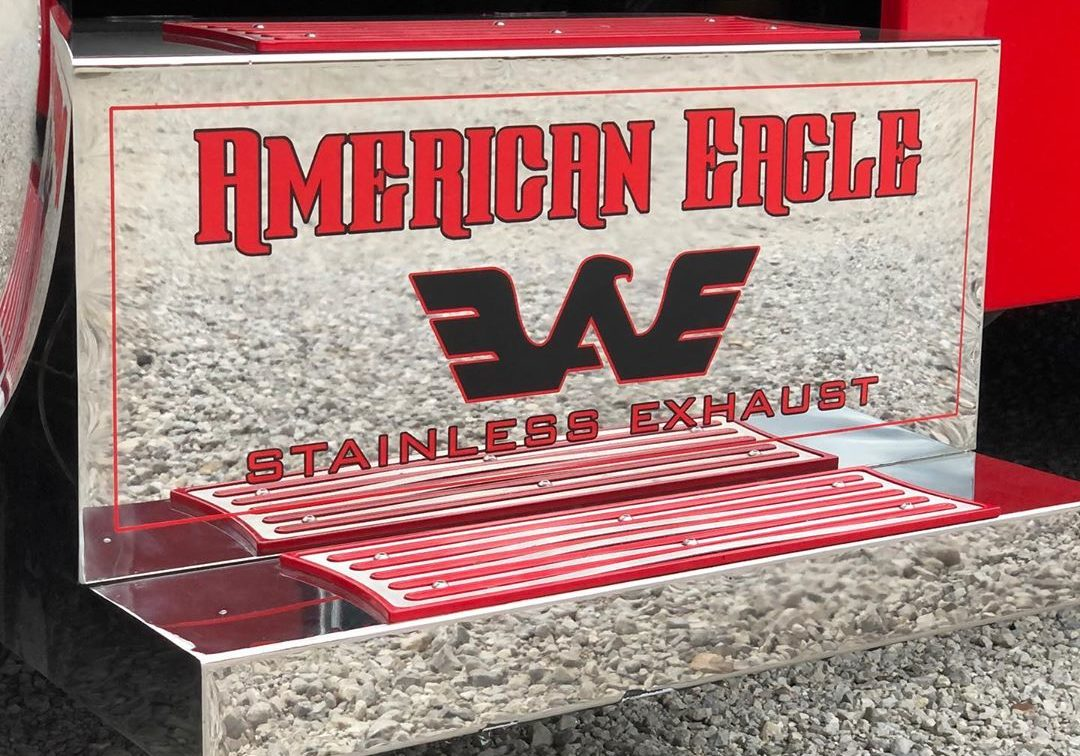 American Eagle Exhaust Stephenville Texas - Custom Stainless Steel Truck Exhaust Step Boxes & Step Plates